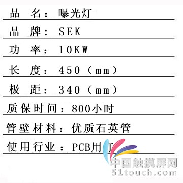 3056曝光灯产品信息