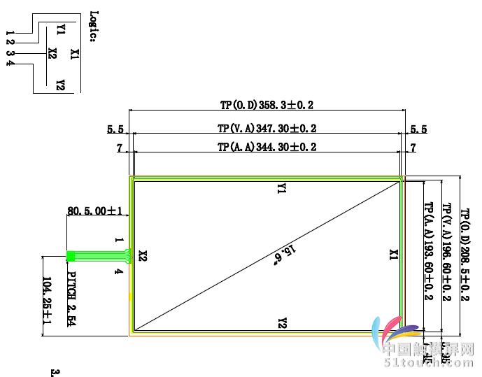 四线电阻屏15.6寸电阻触屏;7-24寸电阻屏,四五线电阻屏